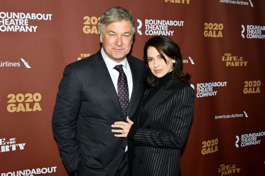 Alec Baldwin and Hilaria Baldwin Roundabout Theatre Pregnant Hilaria Baldwin Shows Baby Bump