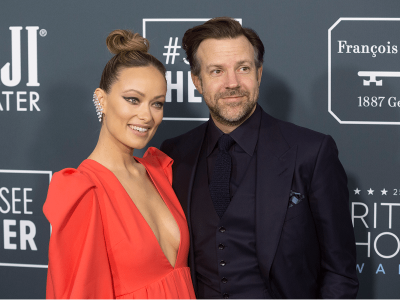 Olivia Wilde and Jason Sudeikis on the red carpet